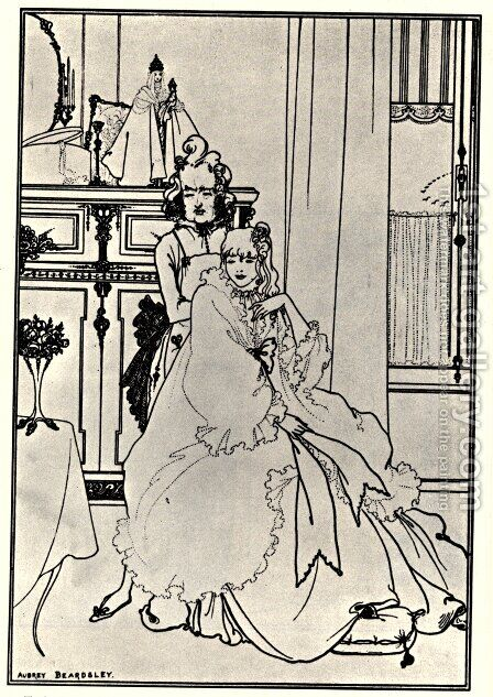 The Coiffing, from the poem 'The Ballad of a Barber', in 'The Savoy', 1896 by Aubrey Vincent Beardsley - Reproduction Oil Painting