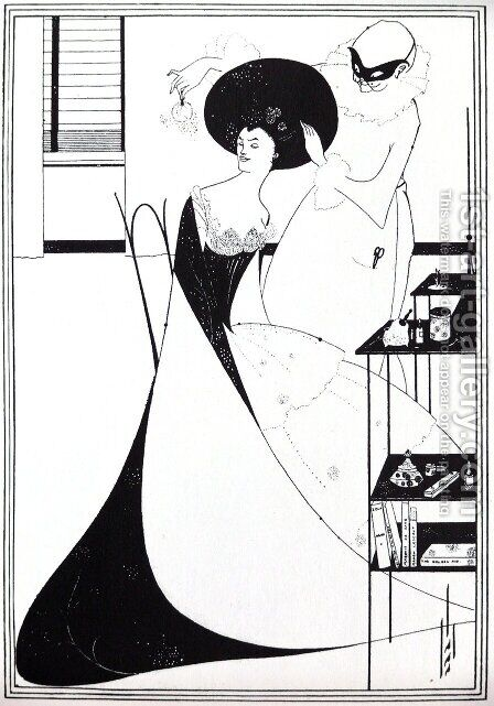 The Toilet of Salome, illustration for the English edition of Oscar Wilde's play 'Salome', 1894 by Aubrey Vincent Beardsley - Reproduction Oil Painting
