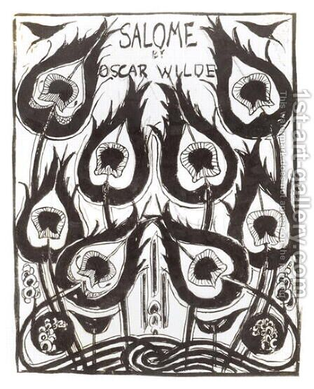 Original sketch for the cover of 'Salome' by Oscar Wilde (1854-1900) c.1894 by Aubrey Vincent Beardsley - Reproduction Oil Painting