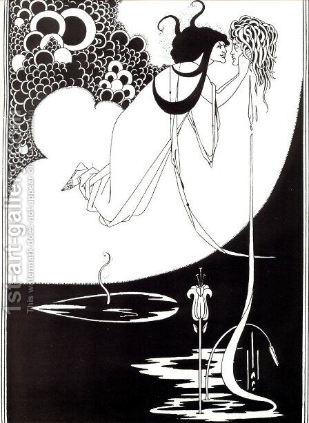 The Climax, illustration from 'Salome' by Oscar Wilde, 1893 by Aubrey Vincent Beardsley - Reproduction Oil Painting