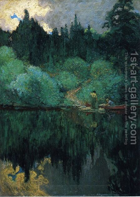 Clearing After Rain, Maganatawan River, Ontario, 1910 by James Edward Hervey MacDonald - Reproduction Oil Painting