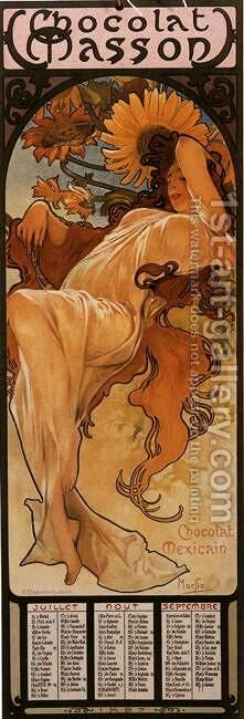 The Four Seasons: Summer. 1897 by Alphonse Maria Mucha - Reproduction Oil Painting