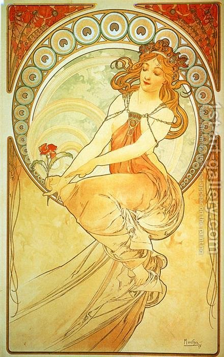 Painting. From The Arts Series. 1898 by Alphonse Maria Mucha - Reproduction Oil Painting