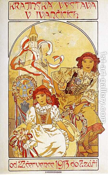 Regional Exhibition in Ivancice. 1912 by Alphonse Maria Mucha - Reproduction Oil Painting
