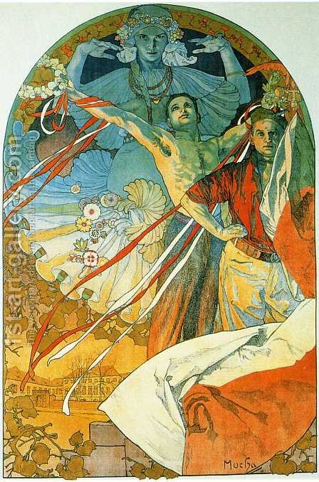 8th Sokol Festival. 1912 by Alphonse Maria Mucha - Reproduction Oil Painting
