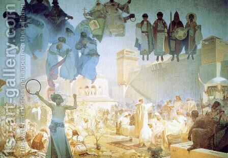 The Introduction of the Slavonic Liturgy, 1912 by Alphonse Maria Mucha - Reproduction Oil Painting