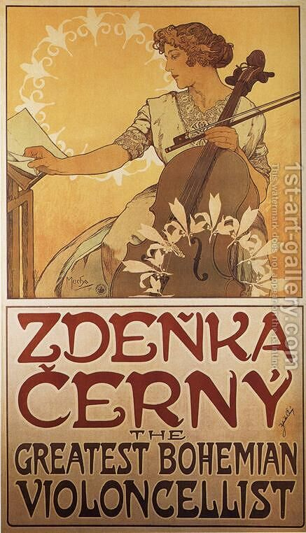 Zdenka Cerny, 1913 by Alphonse Maria Mucha - Reproduction Oil Painting