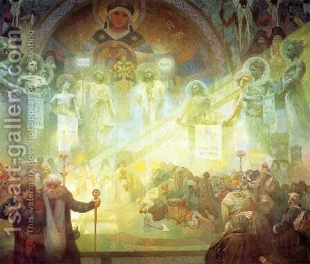 Holy Mount Athos, 1926 by Alphonse Maria Mucha - Reproduction Oil Painting