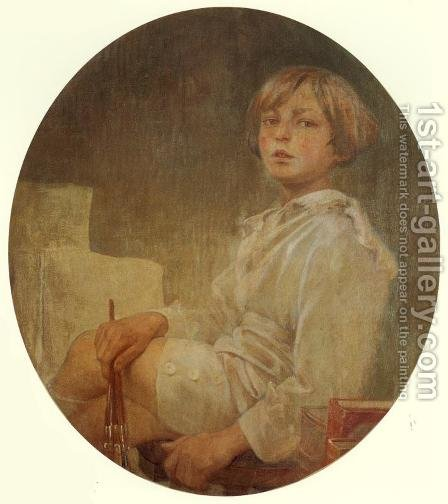 Portrait of Jiri, 1925 by Alphonse Maria Mucha - Reproduction Oil Painting