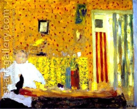 After the Meal. c. 1900 by Edouard  (Jean-Edouard) Vuillard - Reproduction Oil Painting