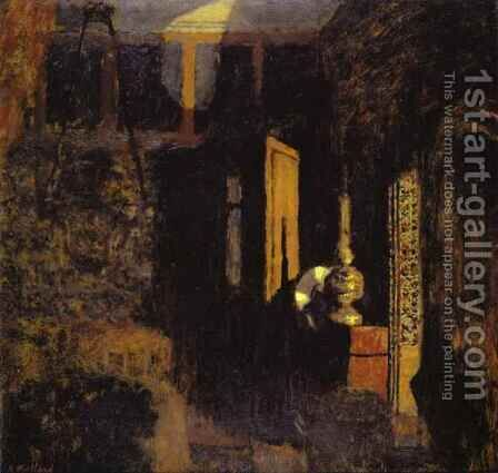 Interior Scene, Called  'Mystery'. (Scene d'Interieur, dit 'Mystere') 1896-97 by Edouard  (Jean-Edouard) Vuillard - Reproduction Oil Painting
