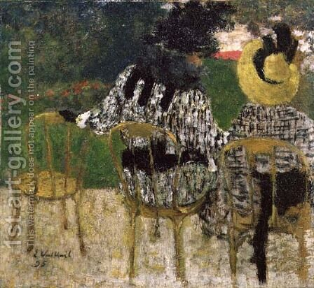 In the Tuileries Gardens, 1895 by Edouard  (Jean-Edouard) Vuillard - Reproduction Oil Painting