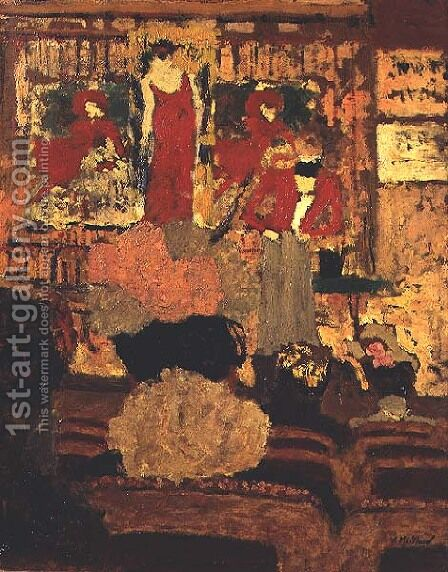 At the Theatre by Edouard  (Jean-Edouard) Vuillard - Reproduction Oil Painting