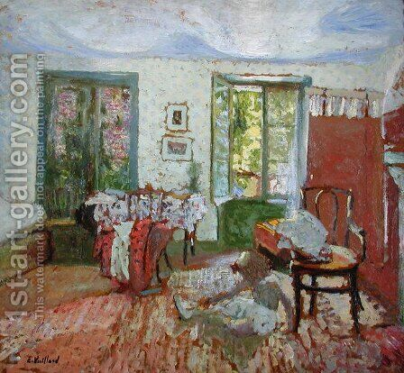 Annette in an Interior, c.1903 by Edouard  (Jean-Edouard) Vuillard - Reproduction Oil Painting