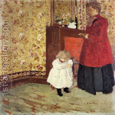 Mother and Child, 1900 by Edouard  (Jean-Edouard) Vuillard - Reproduction Oil Painting