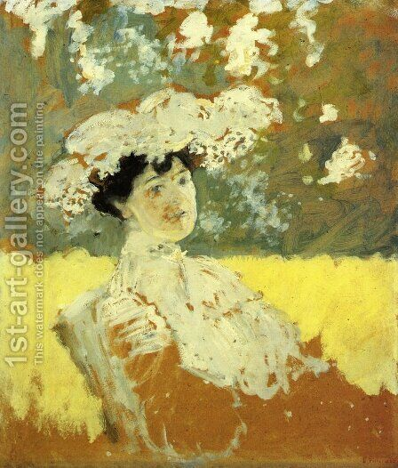 Woman with a Hat, 1901 by Edouard  (Jean-Edouard) Vuillard - Reproduction Oil Painting