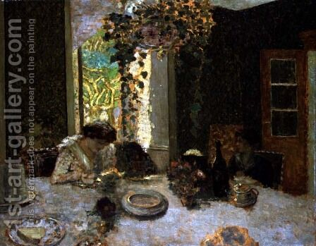 The Dining Room, c.1900 by Edouard  (Jean-Edouard) Vuillard - Reproduction Oil Painting