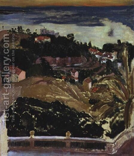 View of Cannes, c.1901 by Edouard  (Jean-Edouard) Vuillard - Reproduction Oil Painting
