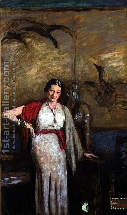 Portrait of Madame Freyssinet, c.1934 by Edouard  (Jean-Edouard) Vuillard - Reproduction Oil Painting