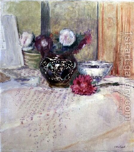 Still Life by Edouard  (Jean-Edouard) Vuillard - Reproduction Oil Painting