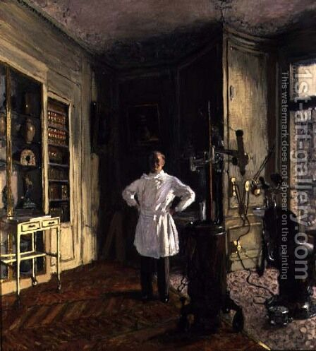 Doctor Viau in his Surgery by Edouard  (Jean-Edouard) Vuillard - Reproduction Oil Painting