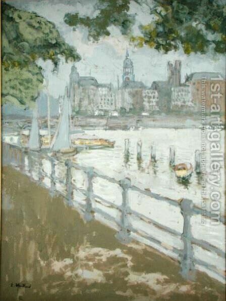 View of the Binnenalster, 1913 by Edouard  (Jean-Edouard) Vuillard - Reproduction Oil Painting