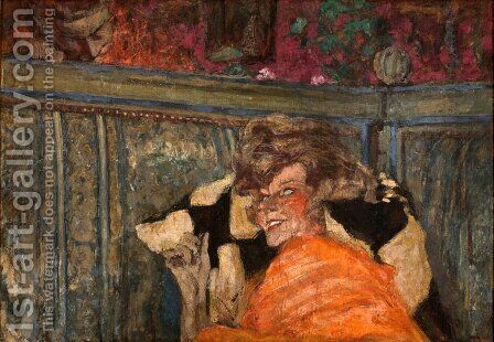 Yvonne Printemps (1894-1977) and Sacha Guitry (1885-1957) c.1912 by Edouard  (Jean-Edouard) Vuillard - Reproduction Oil Painting