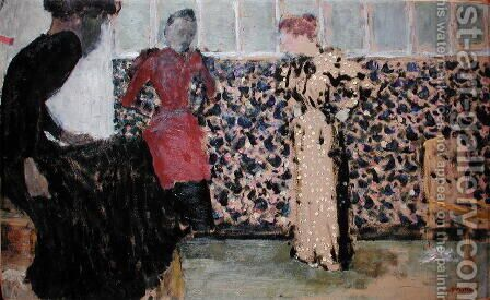 The Needlewomen, 1893-94 by Edouard  (Jean-Edouard) Vuillard - Reproduction Oil Painting