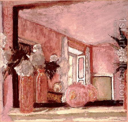 Still Life on a Mantelpiece by Edouard  (Jean-Edouard) Vuillard - Reproduction Oil Painting