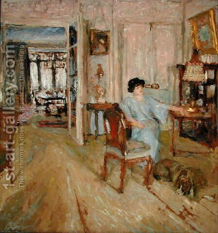 Madame Hessel in her Salon, 1910 by Edouard  (Jean-Edouard) Vuillard - Reproduction Oil Painting
