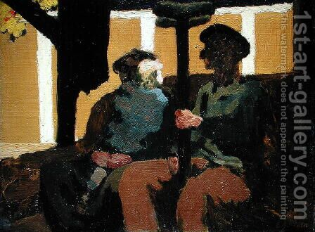 The Third Class Carriage, 1894 by Edouard  (Jean-Edouard) Vuillard - Reproduction Oil Painting