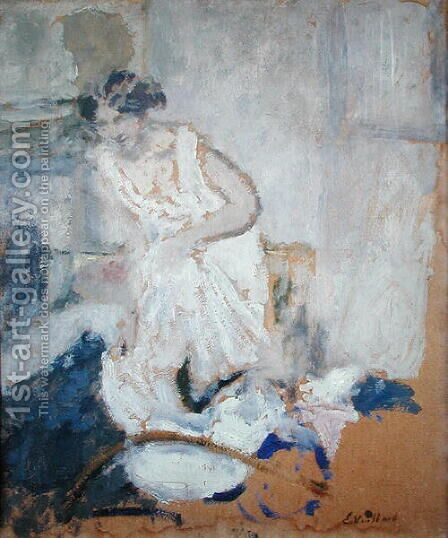 La Chemise, c.1905 by Edouard  (Jean-Edouard) Vuillard - Reproduction Oil Painting