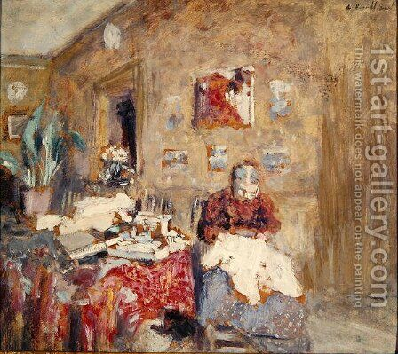 Portrait of the Artist's Mother by Edouard  (Jean-Edouard) Vuillard - Reproduction Oil Painting