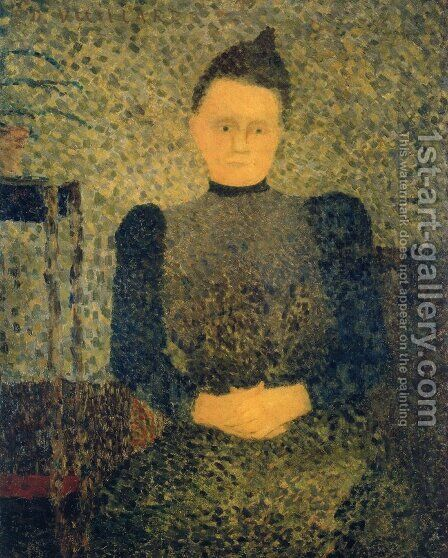 Portrait of Mlle Vuillard, Sister of the Artist, 1892-93 by Edouard  (Jean-Edouard) Vuillard - Reproduction Oil Painting
