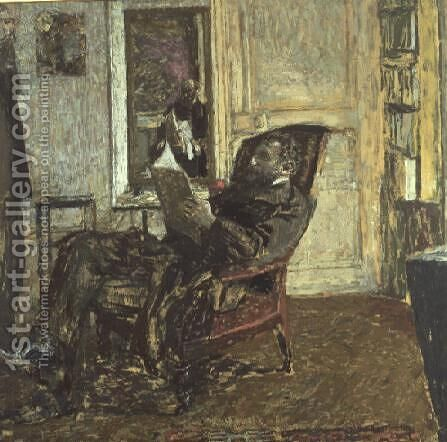 Portrait of Thadee Natanson (1868-1952) 1907-08 by Edouard  (Jean-Edouard) Vuillard - Reproduction Oil Painting