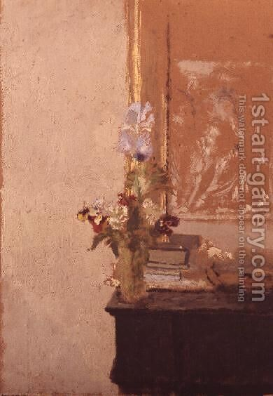 Still life of flowers by Edouard  (Jean-Edouard) Vuillard - Reproduction Oil Painting