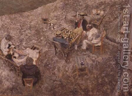 The Checker Board by Edouard  (Jean-Edouard) Vuillard - Reproduction Oil Painting