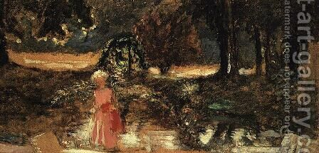 Mother and Child in a Park by Edouard  (Jean-Edouard) Vuillard - Reproduction Oil Painting