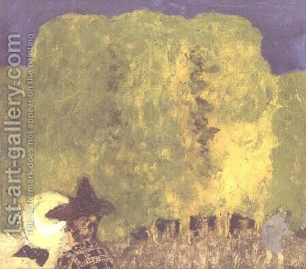 Two Women in a Landscape, 1895 by Edouard  (Jean-Edouard) Vuillard - Reproduction Oil Painting