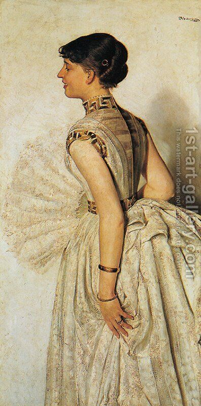 Portrait of the Fiancee, 1887 by Jacek Malczewski - Reproduction Oil Painting