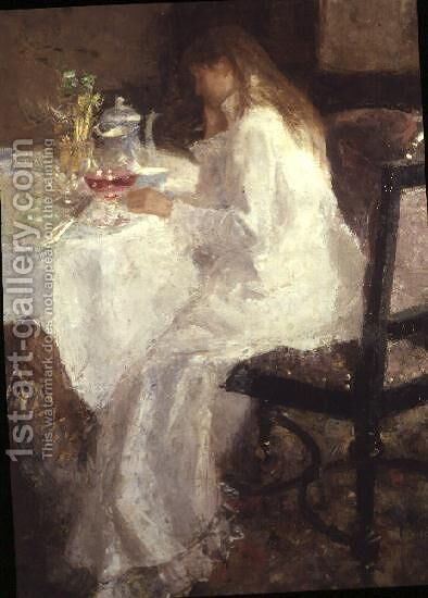 At the Breakfast Table by Jan Toorop - Reproduction Oil Painting