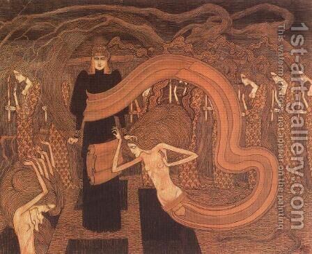 Fatality, 1893 by Jan Toorop - Reproduction Oil Painting