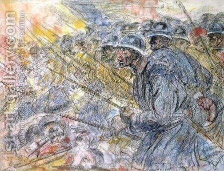 The Assault, Verdun by Charles de Groux - Reproduction Oil Painting