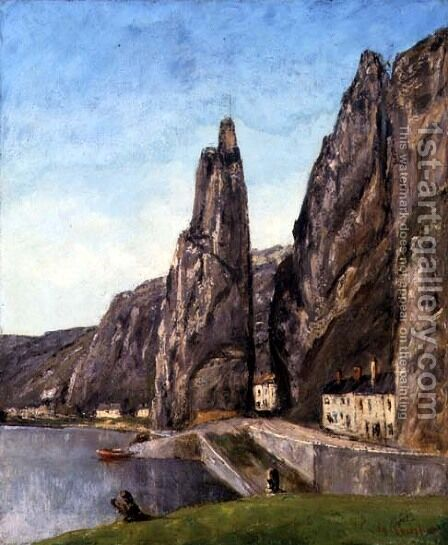 The Rock at Bayard, Dinant, Belgium, c.1856 by Gustave Courbet - Reproduction Oil Painting