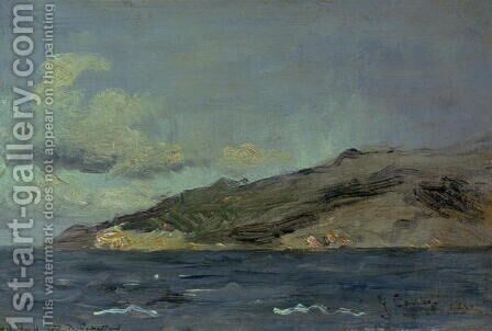 Entrance to the Straits of Gibraltar, 1848 by Gustave Courbet - Reproduction Oil Painting