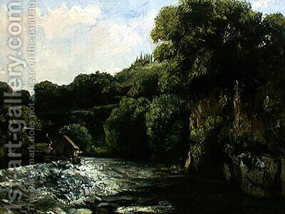 The Lock on the Loue, 1867 by Gustave Courbet - Reproduction Oil Painting