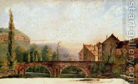 The Pont de Nahin at Ornans, c.1837 by Gustave Courbet - Reproduction Oil Painting