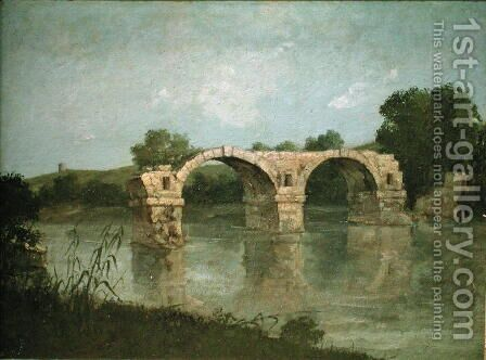 The Bridge at Ambrussum by Gustave Courbet - Reproduction Oil Painting