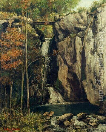 The Chasm at Conches, 1864 by Gustave Courbet - Reproduction Oil Painting