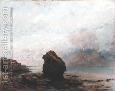The Isolated Rock, c.1862 by Gustave Courbet - Reproduction Oil Painting